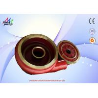 China Metal Volute Lined Slurry Pump Parts F6110 And Frame Plate Liner Insert F6041 on sale