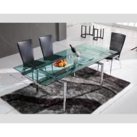 China Dining Set Hd-103a Furniture Table And Chairs Smooth Glass Table Top Surface , Dining Table , Dining Chair on sale