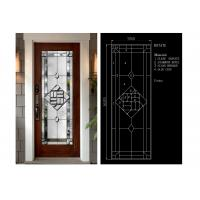 Flat Edge Inlay Decorative Panel Glass Insulated / Bevelled / Polished Manufactures