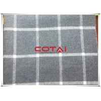 Tartan Vertical Stripe Wool Cashmere Coating Fabric With White Line Double Faced Manufactures