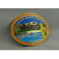 California Orange County Council Custom Made Buckles With Gold Plating And Soft Enamel Manufactures