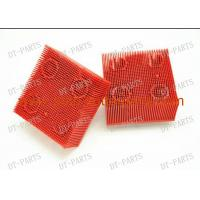 China Auto Cutter Parts Red Round Foot Nylon Bristle Brushes For VT5000 VT7000 130297 702583 on sale
