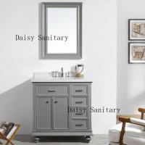 Timber Durable Bathroom Floor Vanities With Brass Or Stainless Steel Handles Manufactures