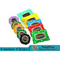 UV Anti - Fake RFID Casino Chips Customized Multi - Color With Number Stickers Manufactures