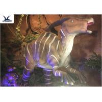 Indoor Decorative Realistic Dinosaur Models With Head Moving Up And Down Manufactures