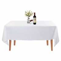 China 54 108 Patry Square PEVA Fancy Plastic White Disposable Table Cloths Covers on sale
