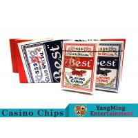 100 Gsm Casino Playing Cards With Bees Dorsal Striatum With Blue Core Paper Manufactures