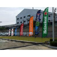 Custom Feather Flags Banner Printing , Decorative Flags For Outside Single Sided Manufactures