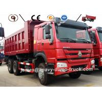 Red Sinotruk Howo 20 Ton 30 Ton Heavy Duty Dump Truck Left Or Right Hand Drive Manufactures