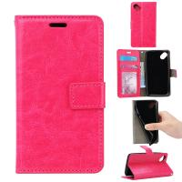 Side - Open Cell Phone Leather Wallet Case For Wiko Sunny Crazy Horse Magnetic Manufactures