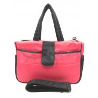 Pink Mummy Tote Diaper Bags For Traveling / Outdoor Activity 190T Polyester Lining Manufactures