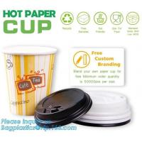 China Biodegradable coffee paper cup with lid custom printed paper cup,3oz 5oz 6oz 8oz ice cream paper cup and paper lid pack on sale