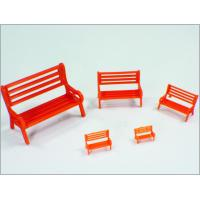 Y30-01 1:30 Custom Scale Model Train Layouts Red Plastic 3D Park Chairs Manufactures