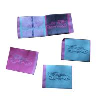 Durable Woven Neck Labels for lady clothing personized size color shrink proof