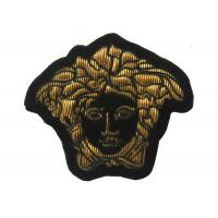 Lady Embroidered Flower Patches Gold Personalised Embroidered Badges
