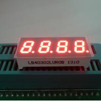 "Ultra Red 0.30"" 7 Segment Led Display 4 Digit For Temperature / Humidity Indicator Manufactures"