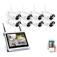 """wholesale 8CH Wireless Surveillance System 12""""LCD Screen Wifi NVR K 960P HD H.264 Outdoor Night Vision Security Camera S Manufactures"""