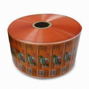 China Orange Food Laminating Film Rolls / Laminate film roll 15mm -260mm width on sale