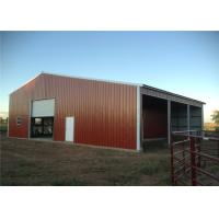 China Fire Proof Pre Built Steel Frame Garage Kits , Metal Shelters Garages Anti Seismic on sale