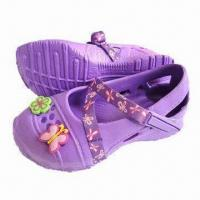 China Children's Garden Shoes, Available in Various Upper Designs with Flexible and Soft Outsole Massaging on sale