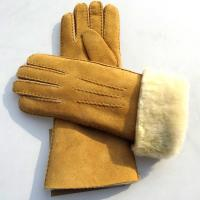 Latest technology sheepskin yellow leather gloves Manufactures