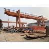 Rail Mounted Double Girder Gantry Crane , 220~440V Electric Gantry Crane for sale