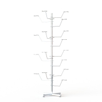 Chrome Adjustable 20 Hooks Tree Display Stand For Hats Caps Display Rack Manufactures