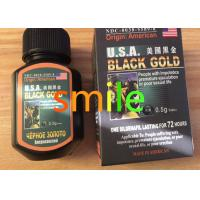 China USA Black Gold Herbal Male Enhancement Products , Male Performance Enhancement Pills on sale