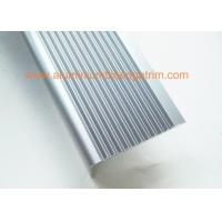 Right Angle Slip Resistant Chrome Stair NosingAnodized Light Blue Color Manufactures