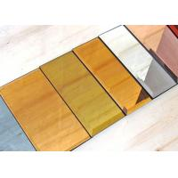 5mm Decorative Tinted Beveled Glass Mirror , Large Wall Mirror Glass Manufactures