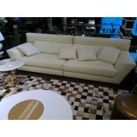 China Top Italian White Leather Queen Interior Modern Modular Sofa Couch for Living Room on sale