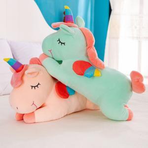 China Fashion Soft Plush Toys Cute Sleeping Unicorn Style Strengthen Interaction With Child on sale