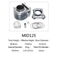 High Performance Air Cooled Motorcycle Cylinder Kit For Yamaha 125 Scooter Manufactures