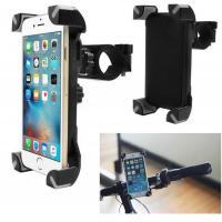 China Universal Adjustable Bicycle Bike Phone Holder Handlebar Clip Stand Mount Bracket For iPhone Samsung Cellphone GPS on sale