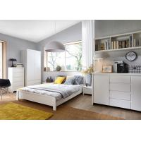 Modern High Glossy White Bedroom Furniture Sets , 5 Drawer Chest Manufactures