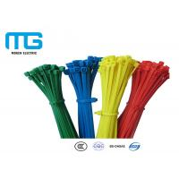 Custom Color Reusable Tie Wraps , Plastic Ties For Cables CE Approved Manufactures