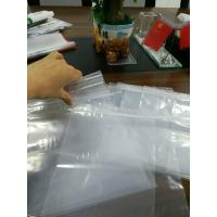 China Transparent Grip Self Seal Plastic Bags , Polyethylene Plastic Bags With Write On Panel on sale