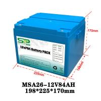 China Li Polymer LiFePO4 12 Volt Lithium Battery Pack for Home Solar Energy System on sale