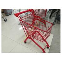 Kids Model Supermarket Shopping Cart / Red Color Shopping Trolley For Kids Manufactures