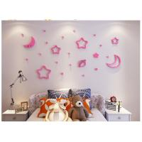 3D stereo stars and moon creative wall stickers kid bedroom wall sticker wall decorative decor desk room Manufactures
