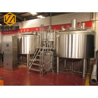 Simple Setups Industrial Beer Making Equipment With 1000kg Malt Mill