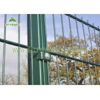 Black Double Wire Fence / Ornamental Twin Wire Mesh Fencing For Sports Field Manufactures