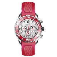 Men's Multifunction Silicone Strap Watches Stainless Steel Case Wrist Watch