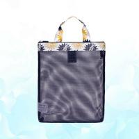Mens Foldable Beach Bag Tote Double Layer Heavy Duty Clear Transparent Manufactures