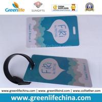 Hard PVC Logo Printed Promotional Luggage Tag W/Tape Loop Manufactures