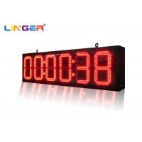 IP65 Front Wall LED  Digital Clock for Bus Station / Train Station Manufactures