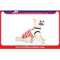Lovely Girl / Boy Dog Clothes Sailor T-shirt with Navy Stripe , Pet Accessories Manufactures