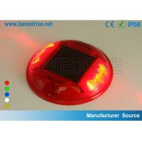 Round Plastic Barricade Lights, For Traffic Safety Using Sustainable Solar Energy Strong PC Shell Manufactures