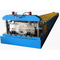 China PLC Control Metal Deck Roll Forming Machine With 21 Forming Stations on sale
