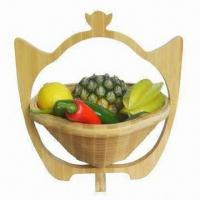 Bamboo Fruit Basket for Storage and Home Decoration, OEM Orders Accepted Manufactures